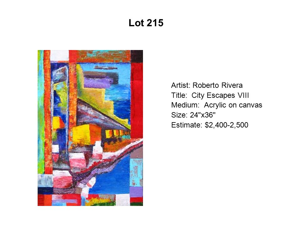 Lot 210 Artist: Sergio Tapia Title: All I Have to Give