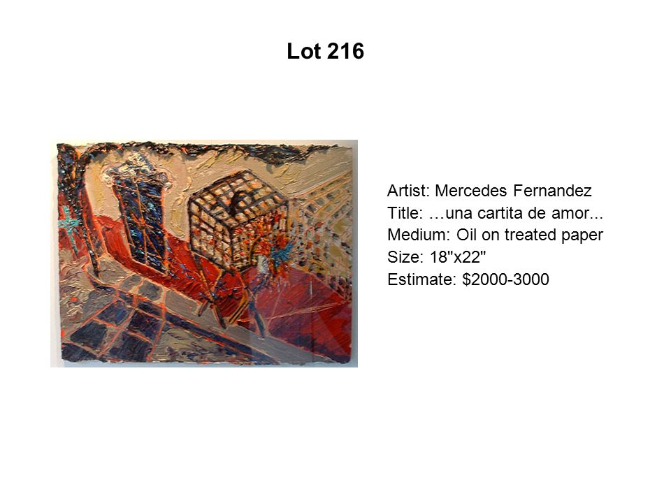 Lot 211 Artist: Mónica Aíssa Martínez Title: In Formation