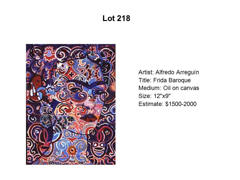 Lot 213 Artist: Alfredo Arreguín Title: Pericos Medium: Serigraph