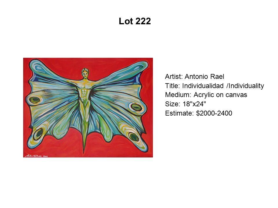 Lot 217 Artist: Pattsi Valdez Title: Mom s Living Room