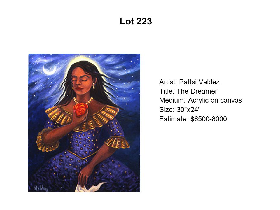 Lot 218 Artist: Alfredo Arreguín Title: Frida Baroque