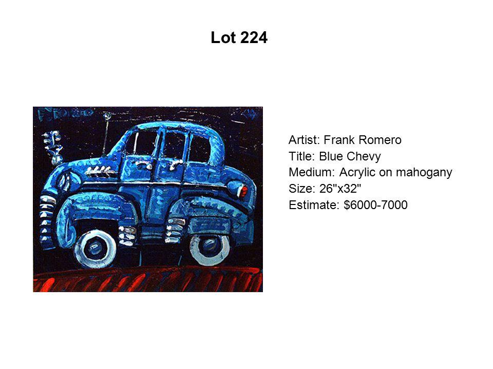Lot 219 Artist: Frank Romero Title: History of the Chicano Movement