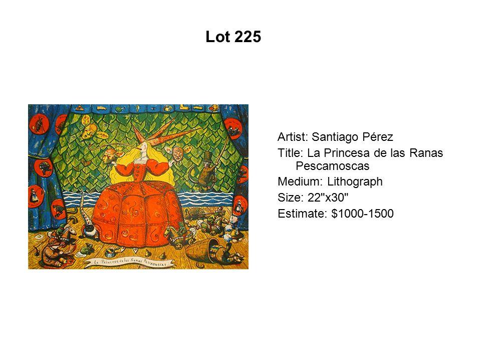 Lot 220 Artist: Maya González Title: Boat on the River