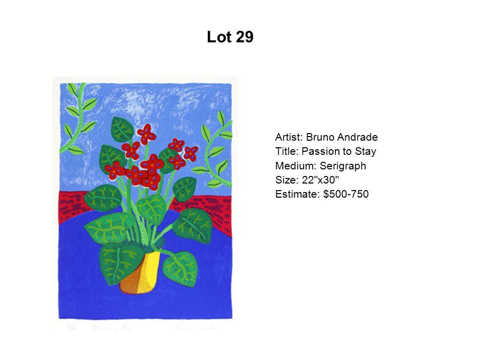 Lot 24 Artist: Sam Coronado Title: Dos mundos Medium: Serigraph