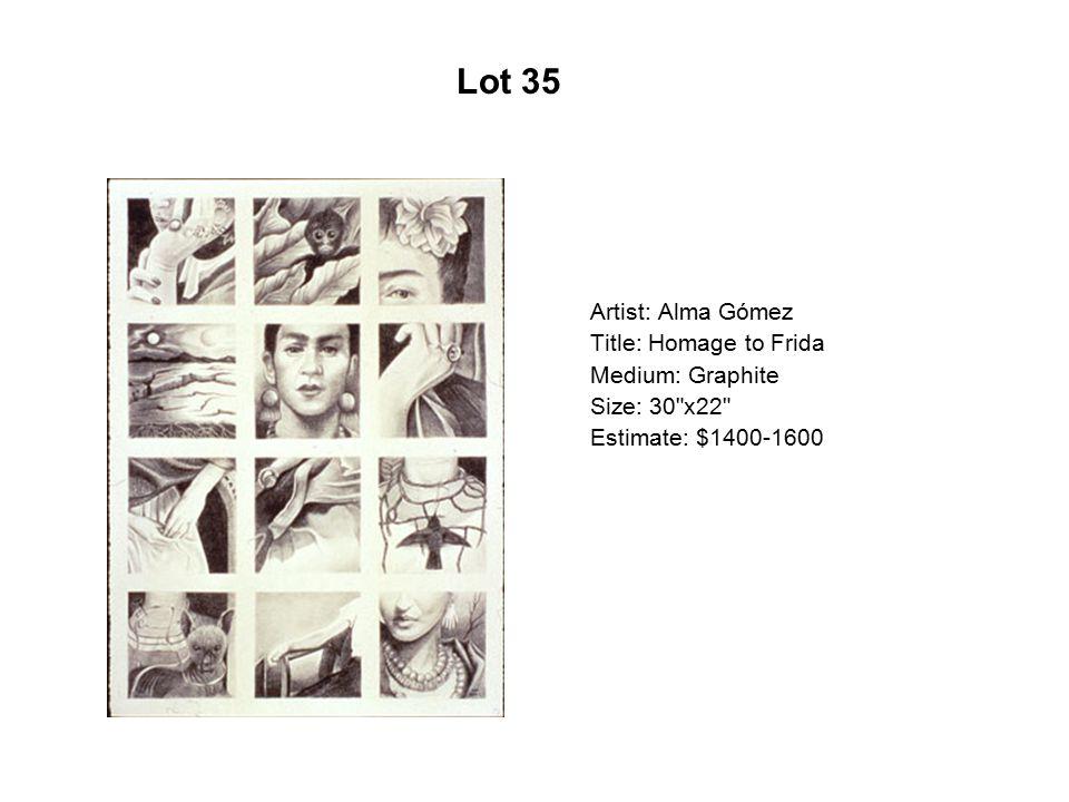 Lot 30 Artist: Cristina Cárdenas Title: Moth Woman