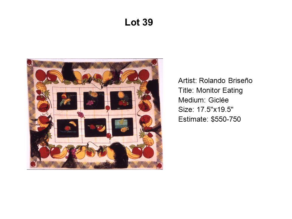 Lot 34 Artist: Marilú Flores Gruben