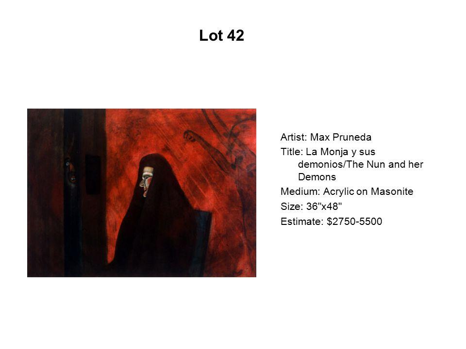 Lot 37 Artist: Gaspar Enríquez Title: Q-Vo-Way Medium: Serigraph