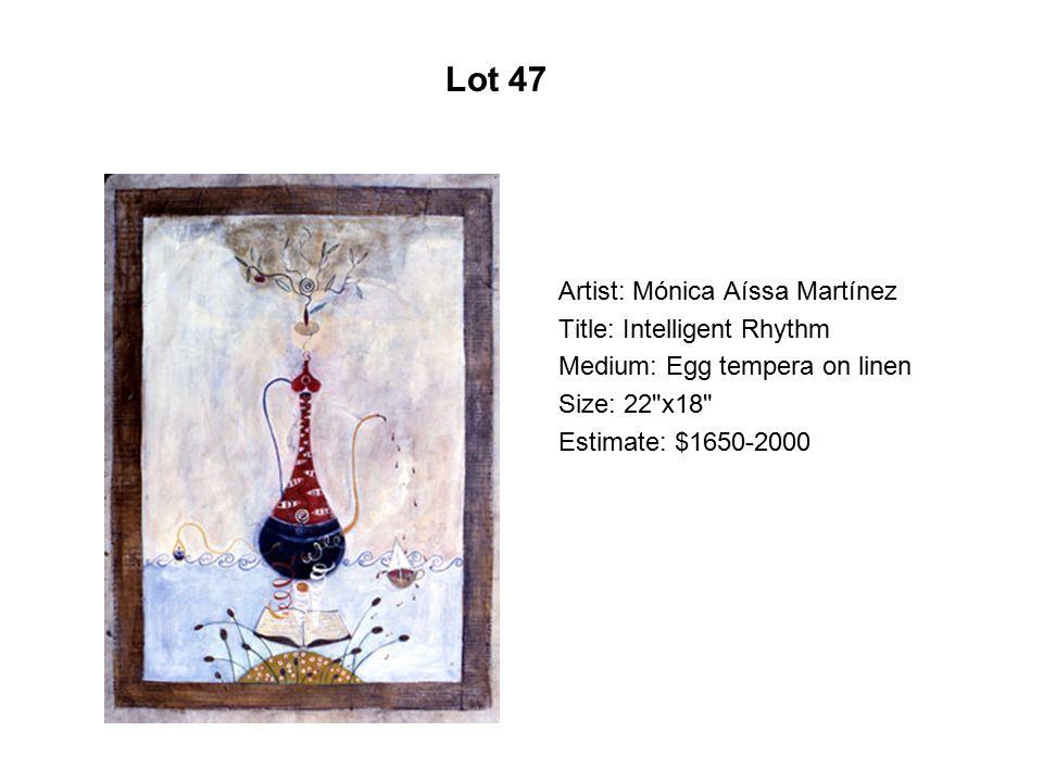 Lot 42 Artist: Max Pruneda