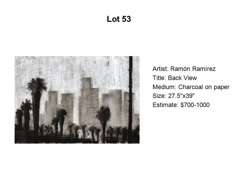 Lot 48 Artist: Silvia Capistran Title: Untitled/Verdá