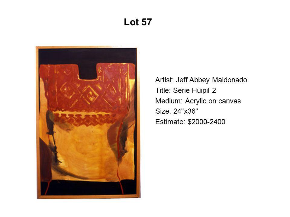 Lot 52 Artist: Fidencio Durán Title: Stilts Medium: Acrylic on canvas
