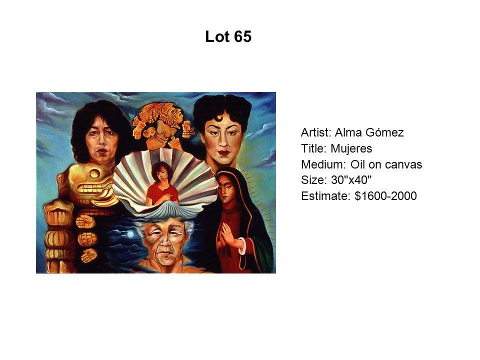 Lot 60 Artist: Tlisza Jaurique Title: La Sirena