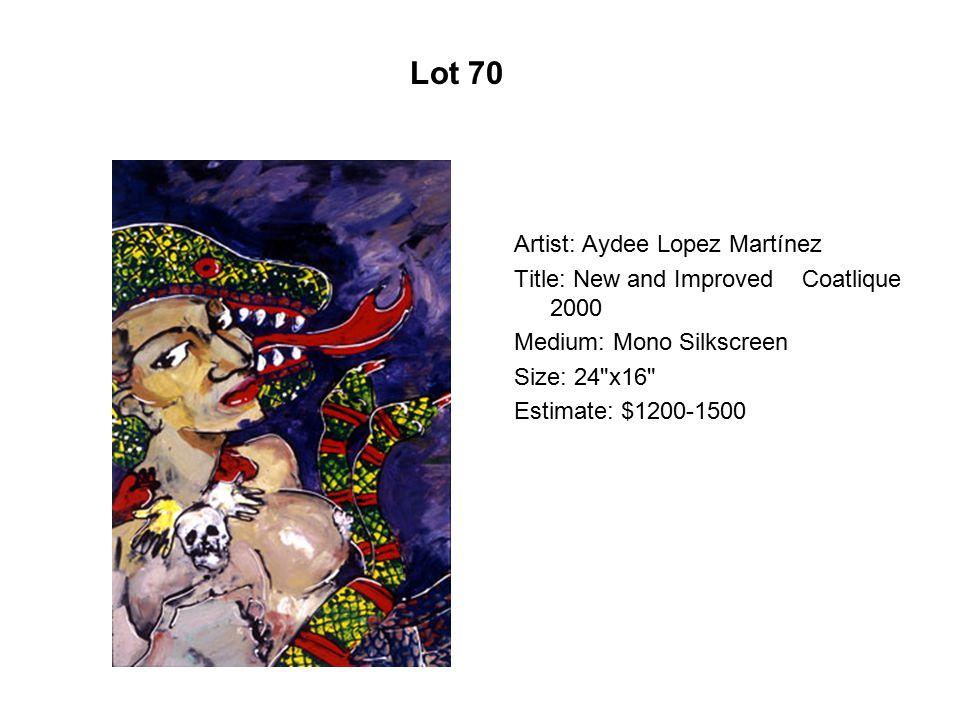 Lot 65 Artist: Alma Gómez Title: Mujeres Medium: Oil on canvas