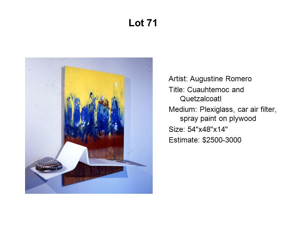 Lot 66 Artist: José Esquivel Title: La luz verde Medium: Acrylic
