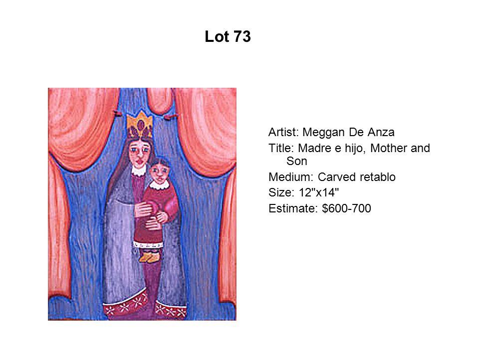 Lot 68 Artist: Max-Carlos Martínez Title: 9 in 69