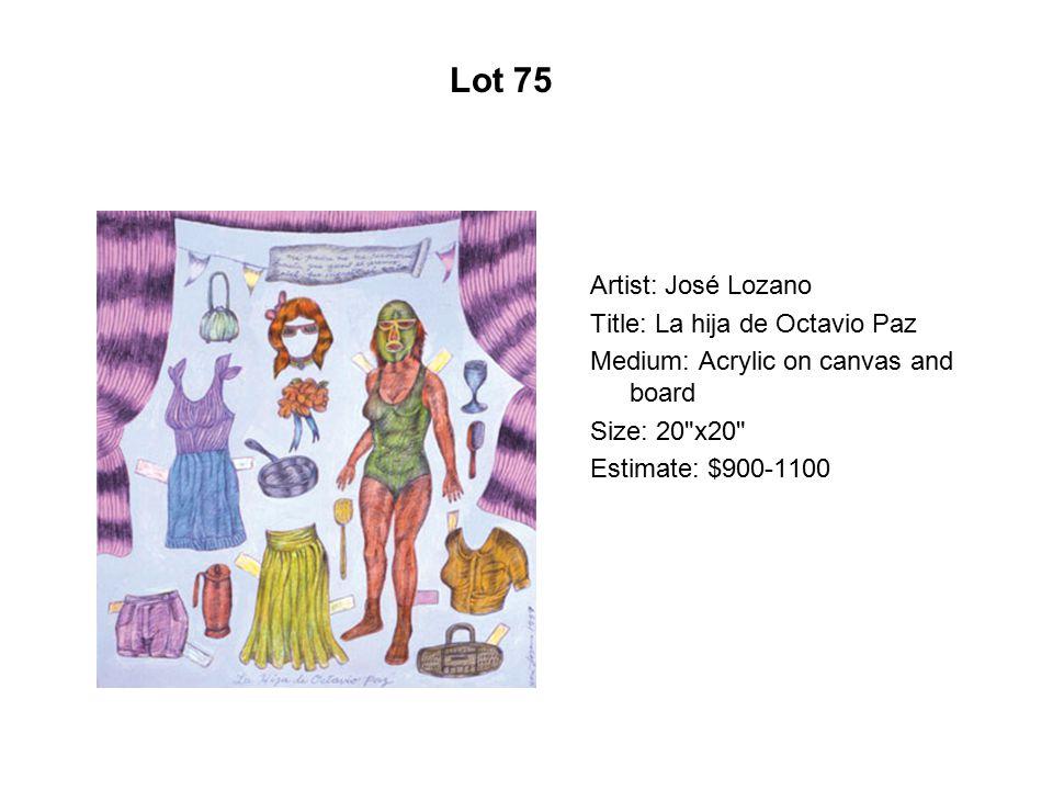 Lot 70 Artist: Aydee Lopez Martínez