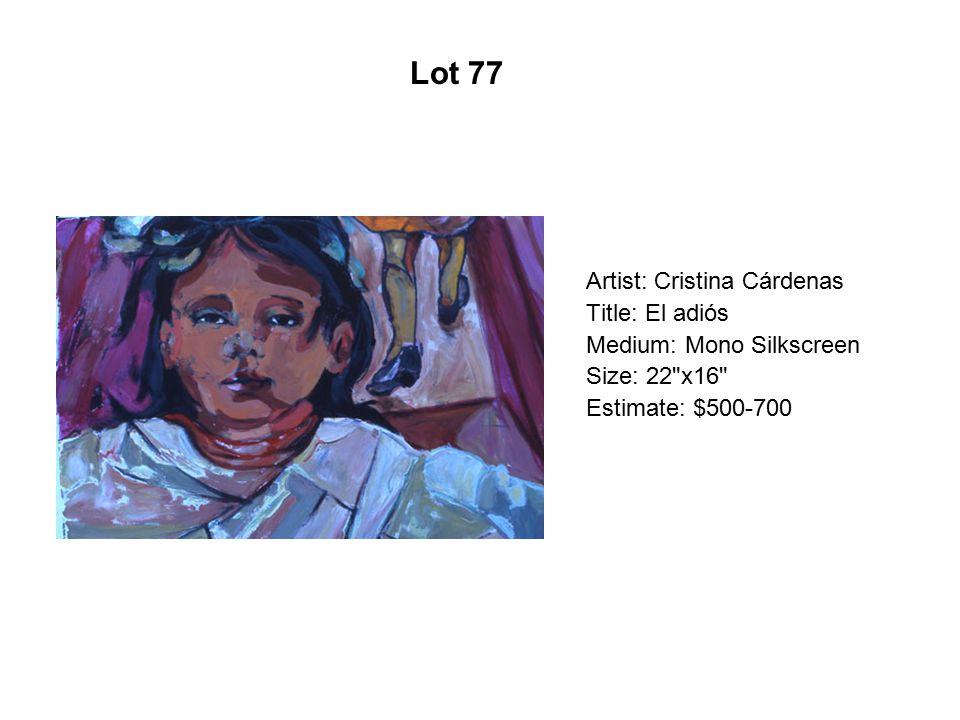 Lot 72 Artist: Martin Moreno Title: Captain America Greets Immigrants