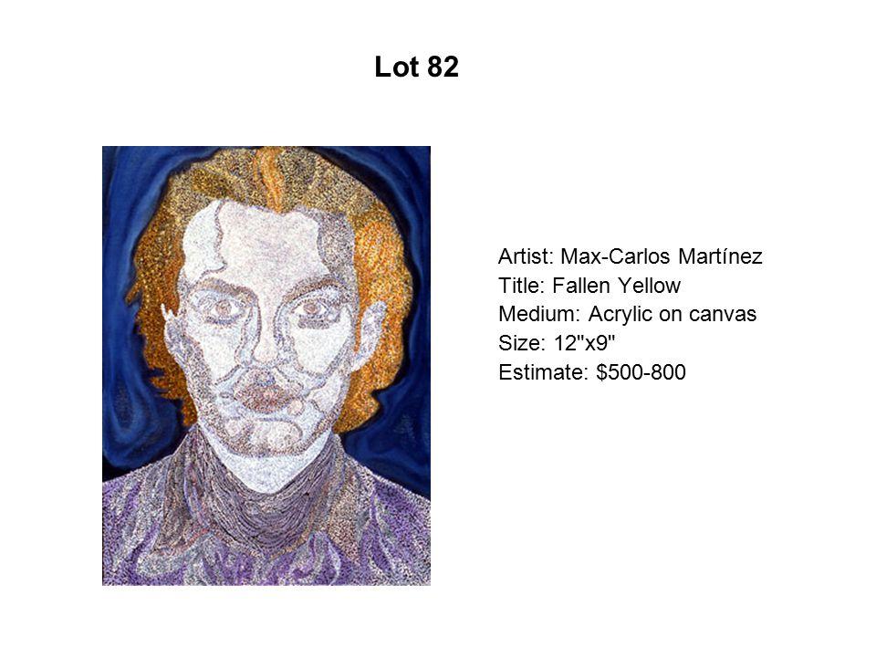 Lot 77 Artist: Cristina Cárdenas Title: El adiós
