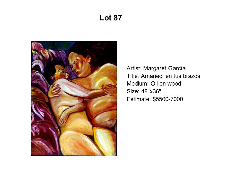 Lot 82 Artist: Max-Carlos Martínez Title: Fallen Yellow