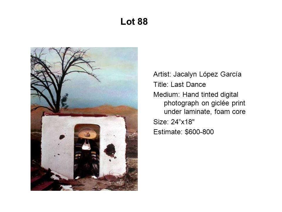 Lot 83 Artist: Wayne Alaniz Healy Title: Bolero familiar