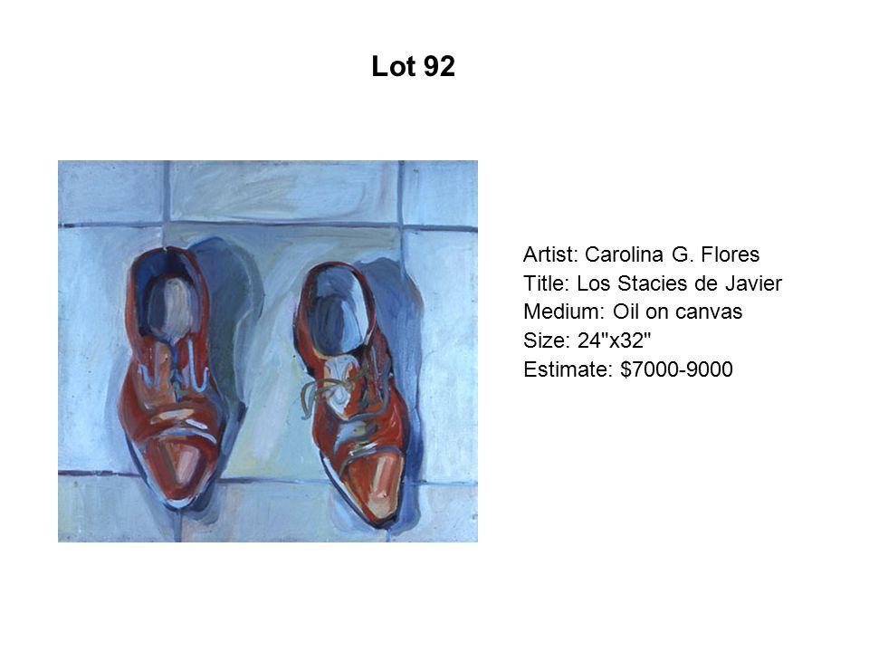Lot 87 Artist: Margaret García Title: Amanecí en tus brazos