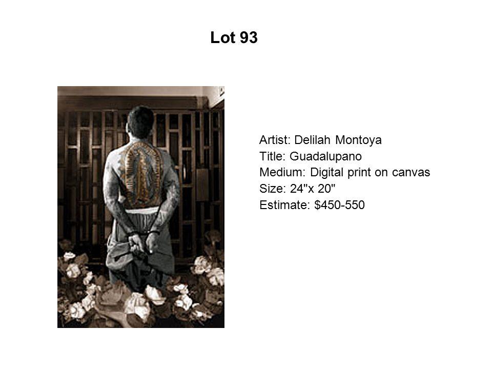 Lot 88 Artist: Jacalyn López García Title: Last Dance