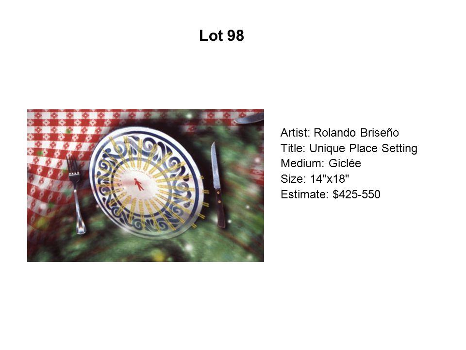 Lot 93 Artist: Delilah Montoya Title: Guadalupano