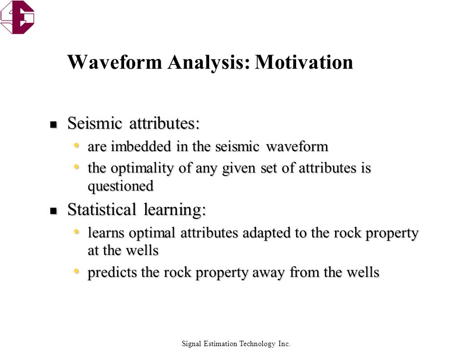 Waveform Analysis: Motivation