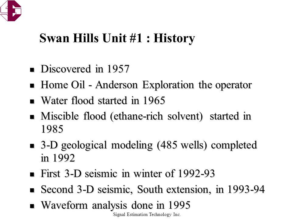 Swan Hills Unit #1 : History