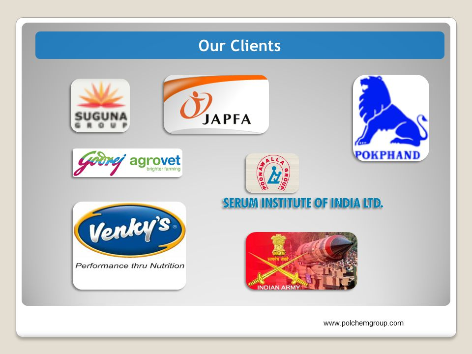 Our Clients www.polchemgroup.com