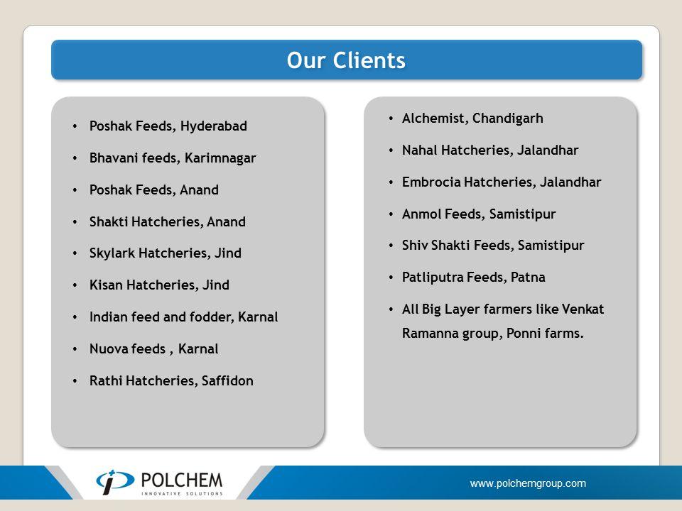 Our Clients Alchemist, Chandigarh Poshak Feeds, Hyderabad
