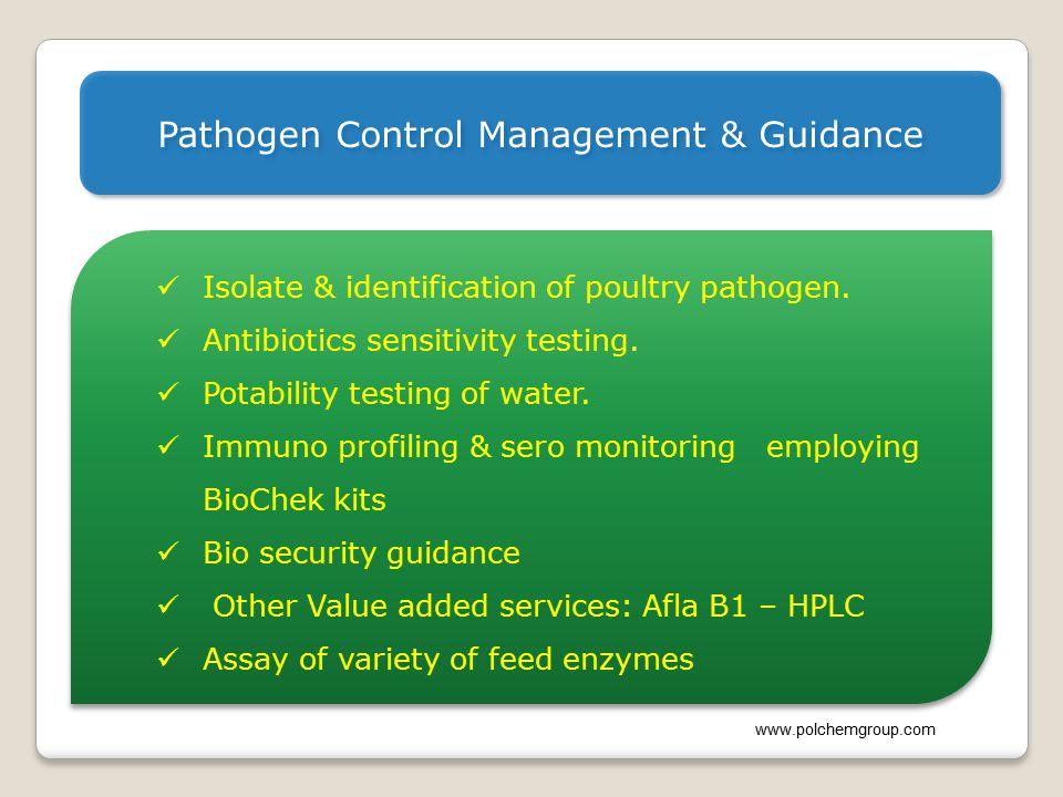 Pathogen Control Management & Guidance