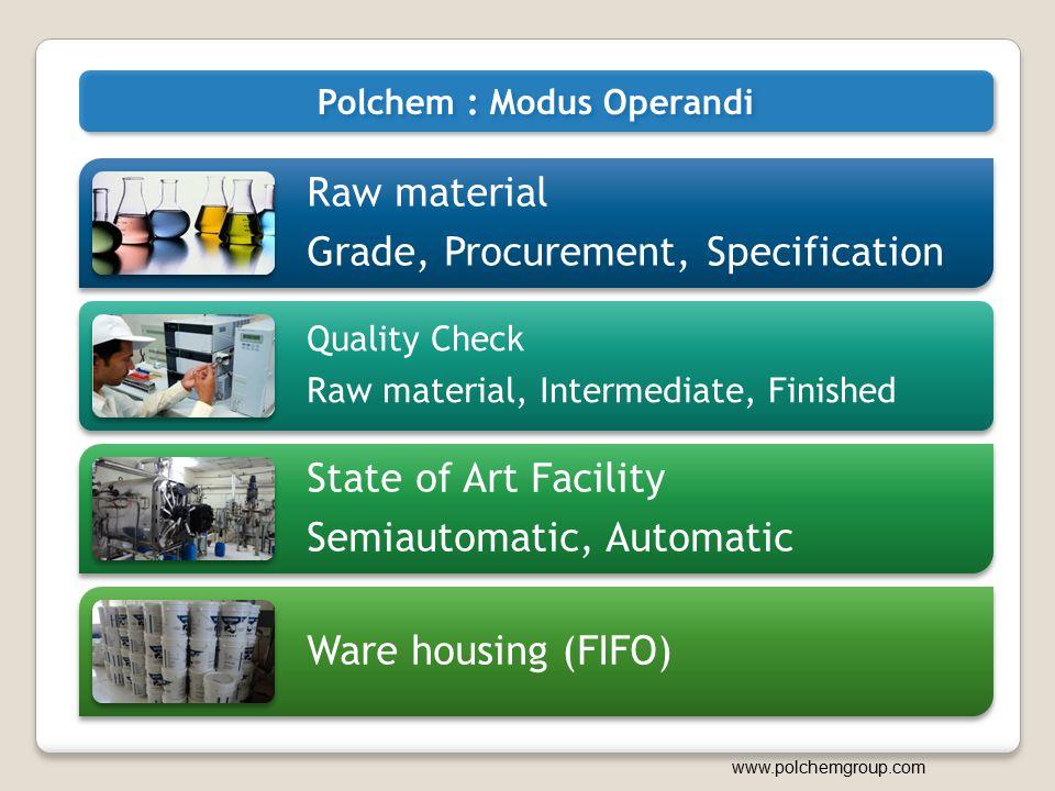 Polchem : Modus Operandi