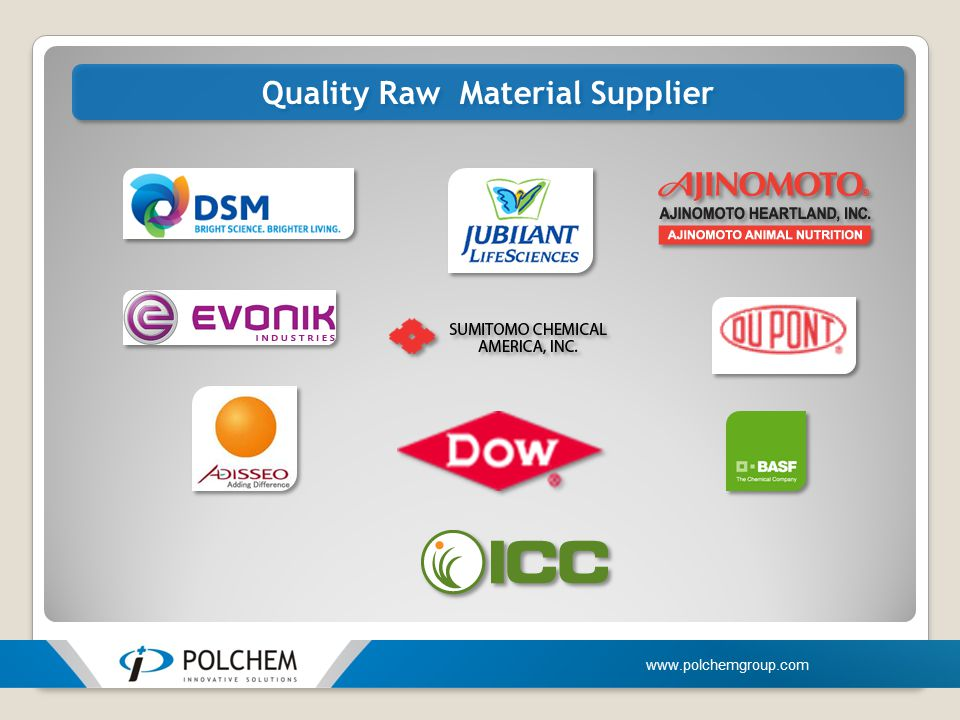 Quality Raw Material Supplier