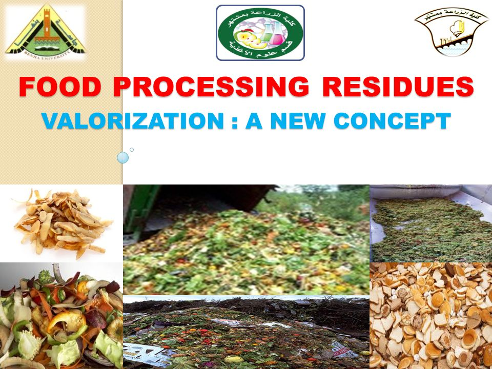 FOOD PROCESSING RESIDUES VALORIZATION : A NEW CONCEPT