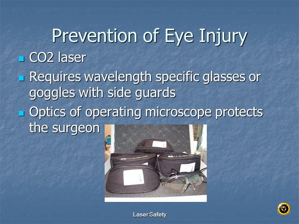 Prevention of Eye Injury