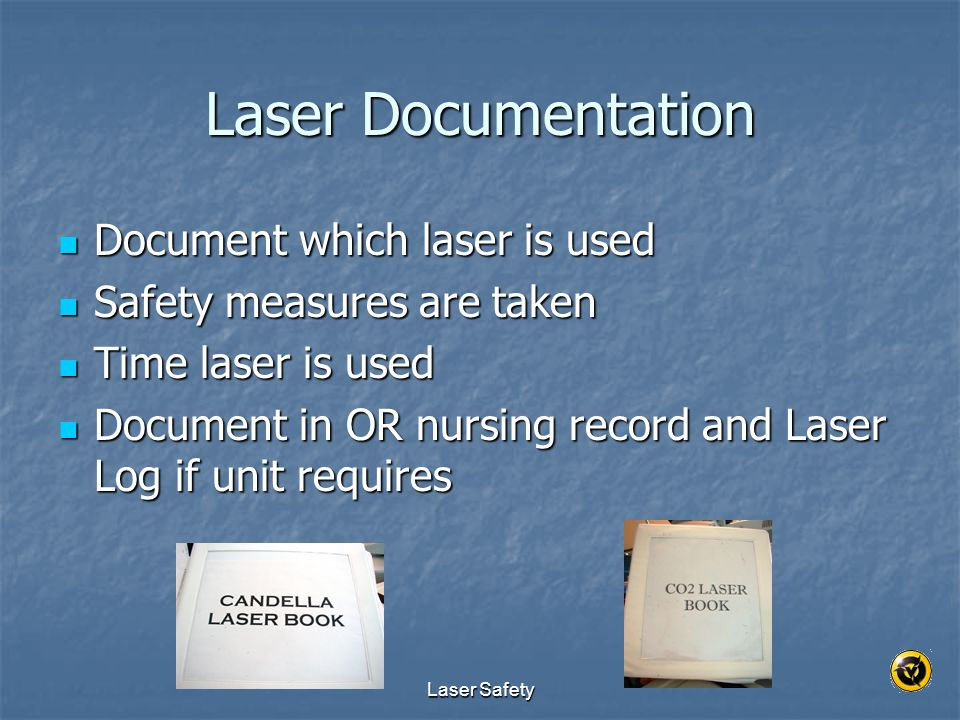 Laser Documentation Document which laser is used