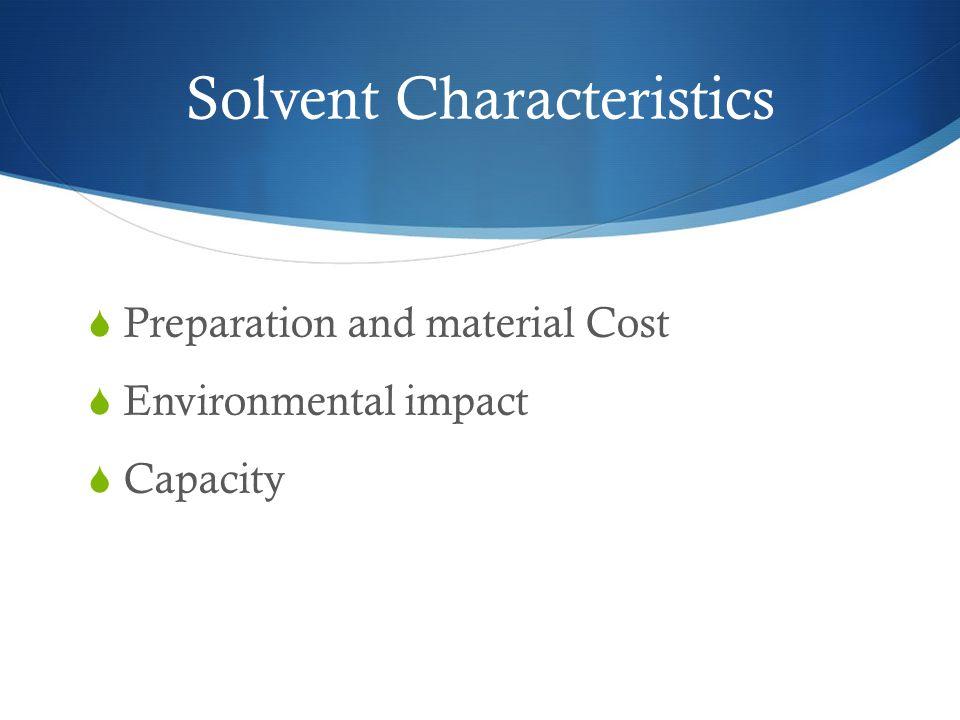 Solvent Characteristics