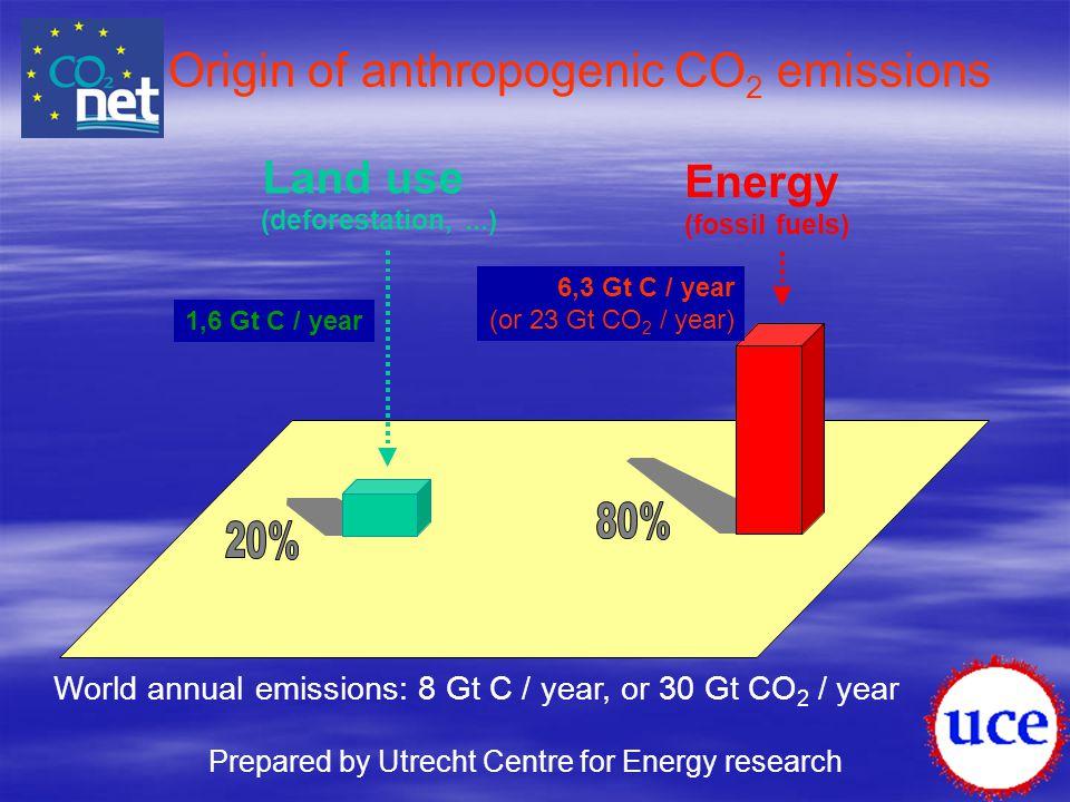 Origin of anthropogenic CO2 emissions