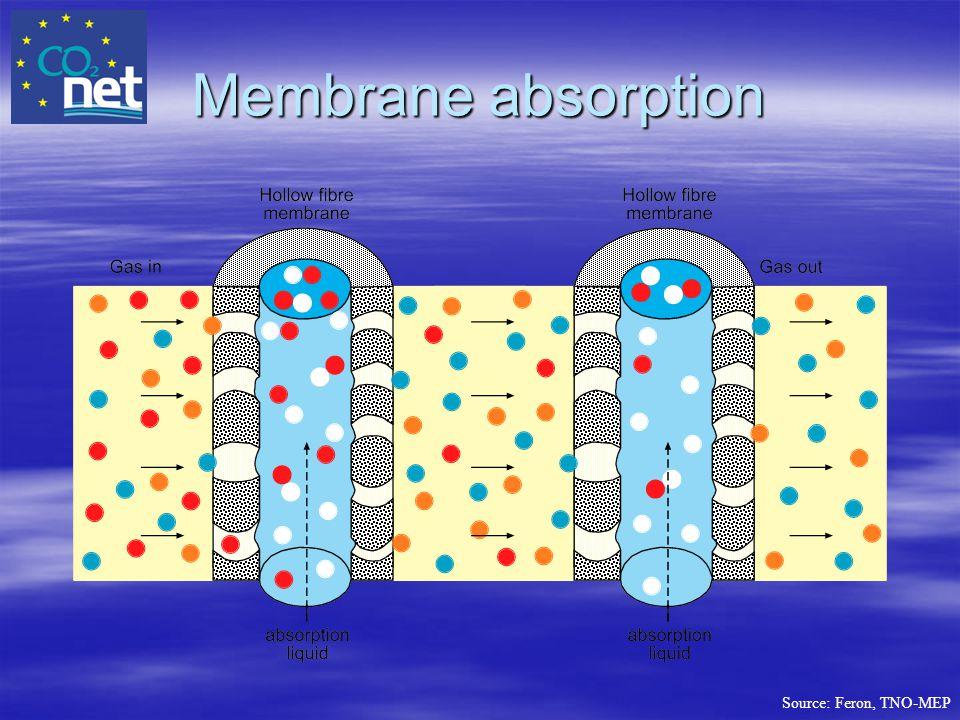 Membrane absorption
