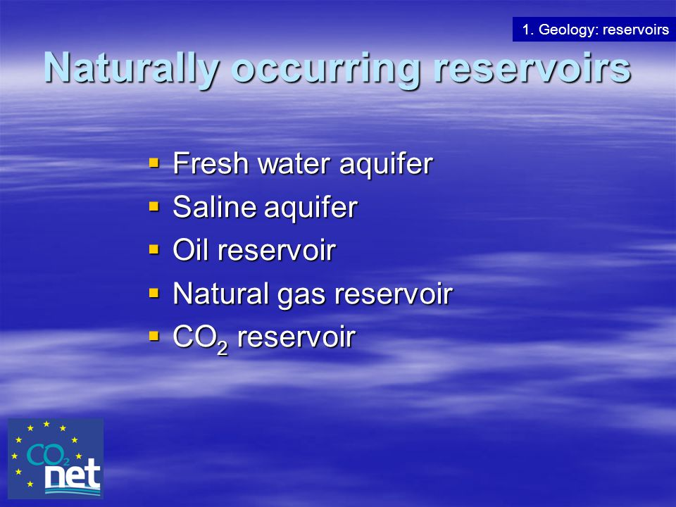 Naturally occurring reservoirs