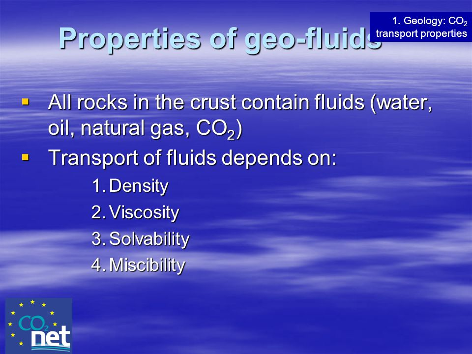 Properties of geo-fluids