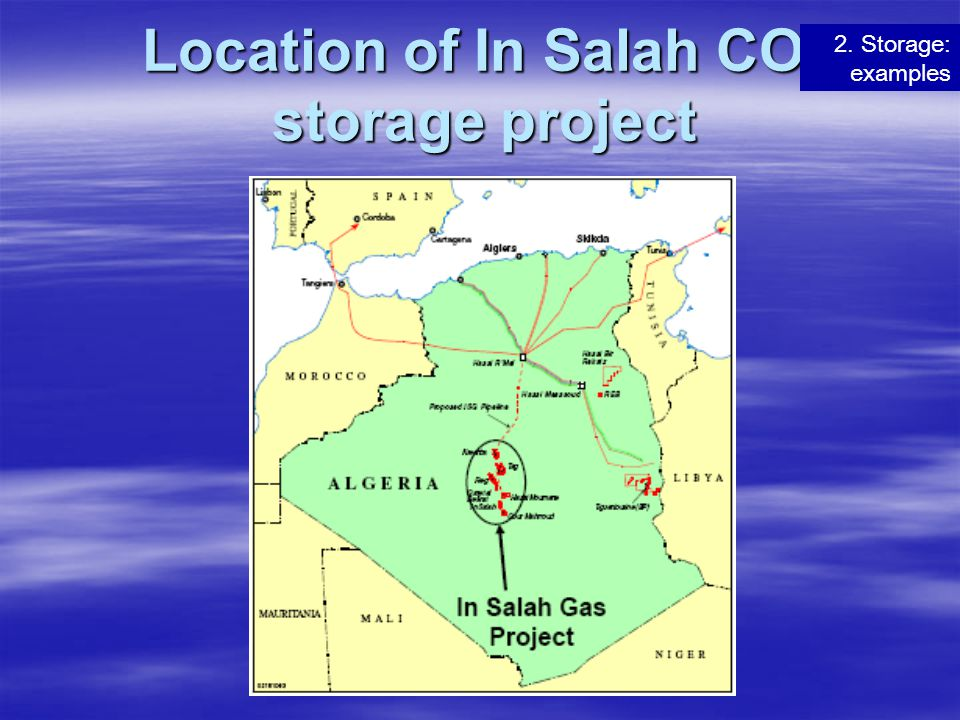 Location of In Salah CO2 storage project