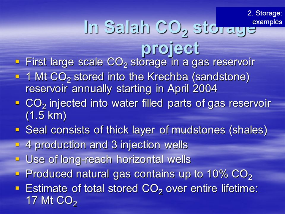 In Salah CO2 storage project