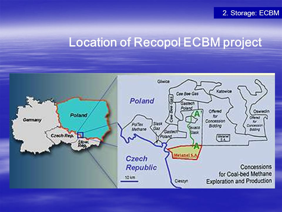 Location of Recopol ECBM project