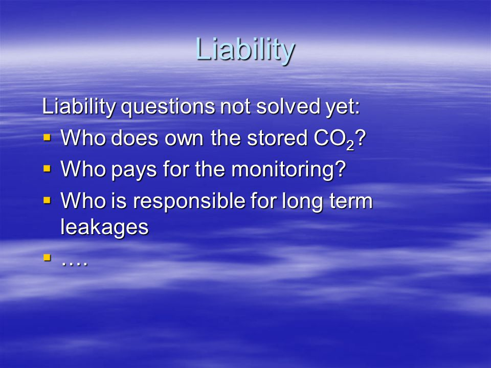 Liability Liability questions not solved yet: