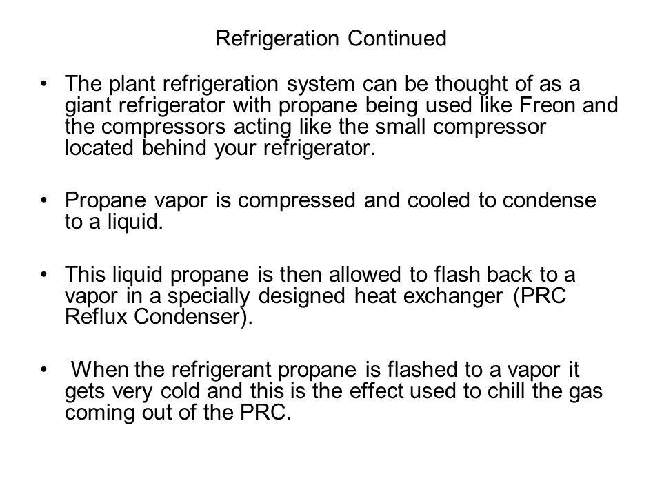 Refrigeration Continued