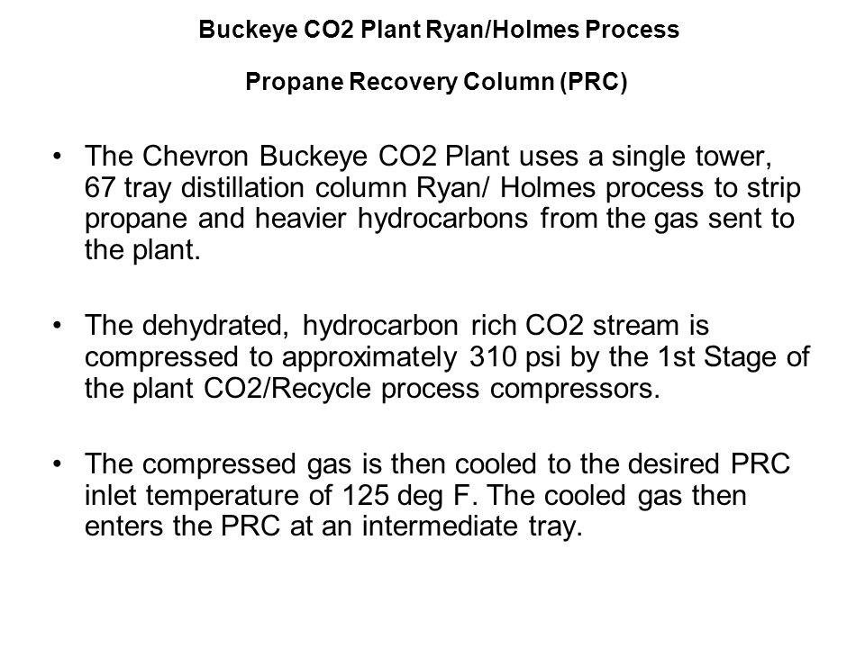 Buckeye CO2 Plant Ryan/Holmes Process Propane Recovery Column (PRC)