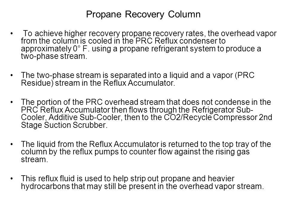 Propane Recovery Column