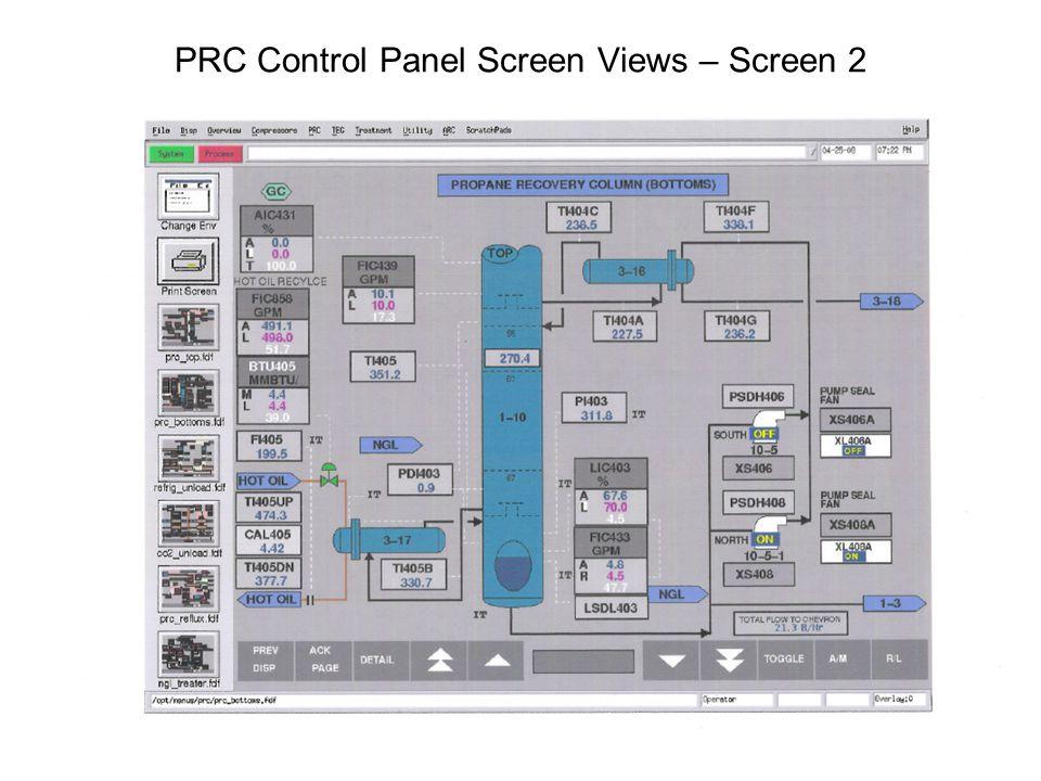 PRC Control Panel Screen Views – Screen 2