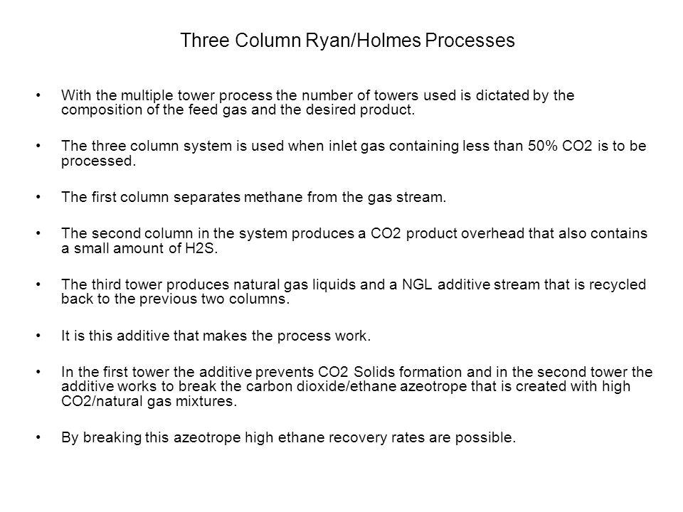 Three Column Ryan/Holmes Processes